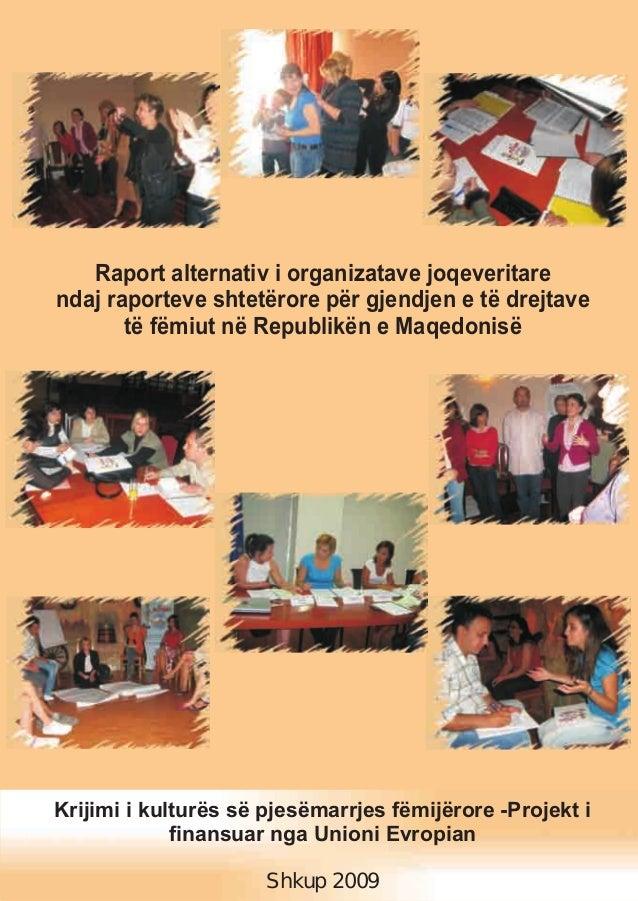 Raport alternativ i organizatave joqeveritare ndaj raporteve shtetërore për gjendjen e të drejtave të fëmiut në Republikën...