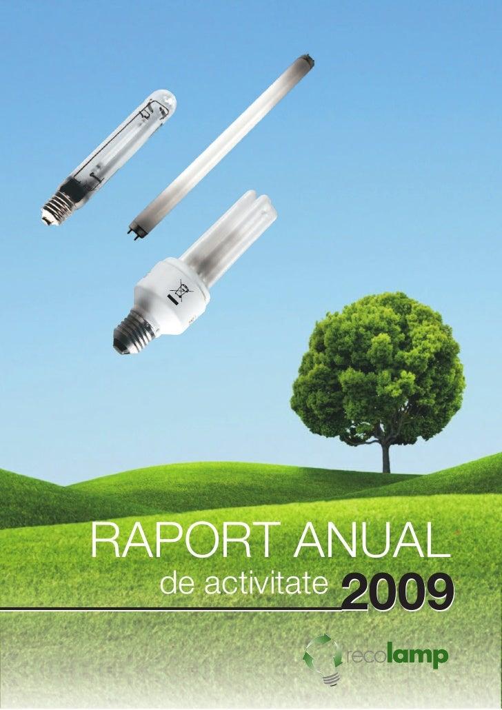 Raport anual Recolamp 2009