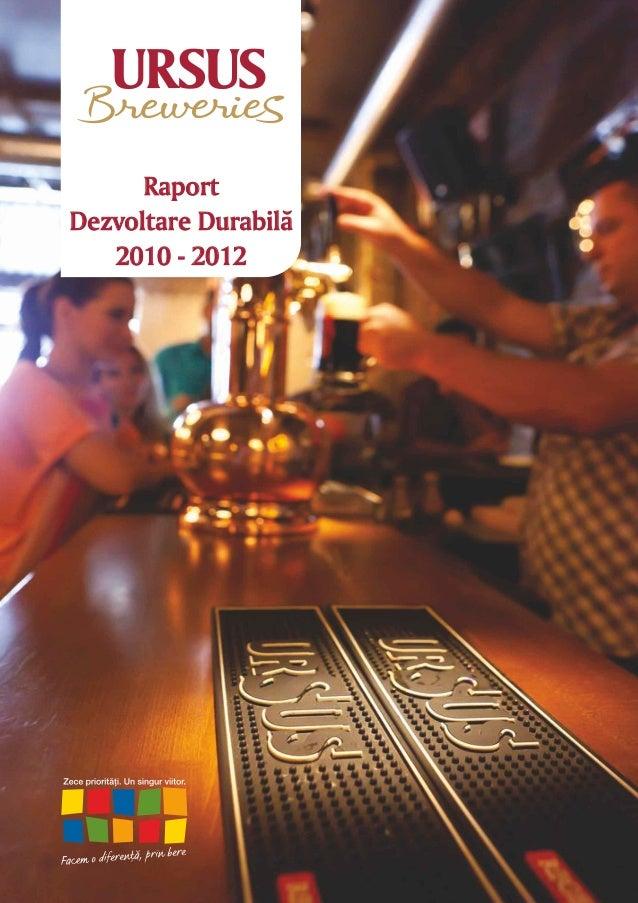 RaportDezvoltare Durabilã   2010 - 2012          2012