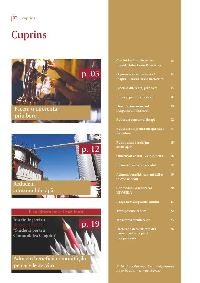 Raport de Dezvoltare Durabila Ursus Breweries Slide 2