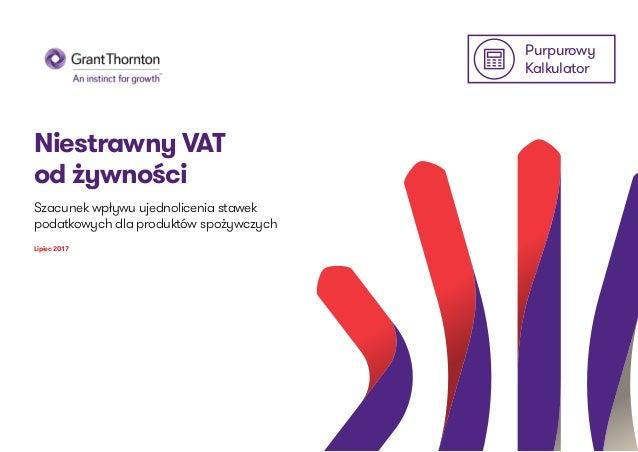 Purpurowy Kalkulator Niestrawny VAT od żywności Szacunek wpływu ujednolicenia stawek podatkowych dla produktów spożywczych...