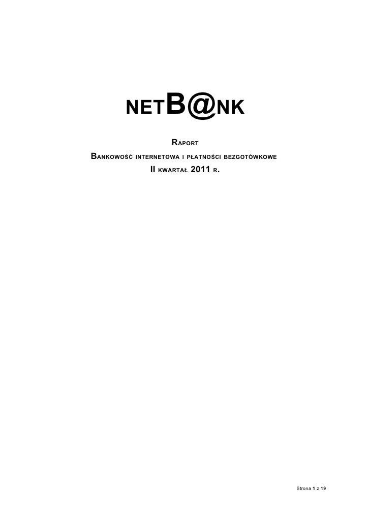 Raport Net B@nk ii kwartał 2011