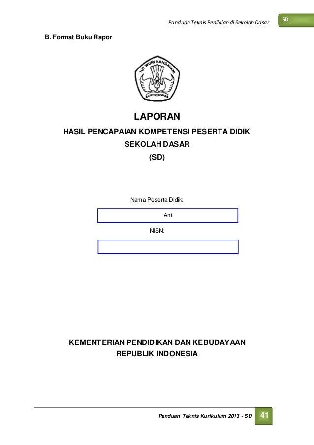 Buku Raport Sd Ktsp