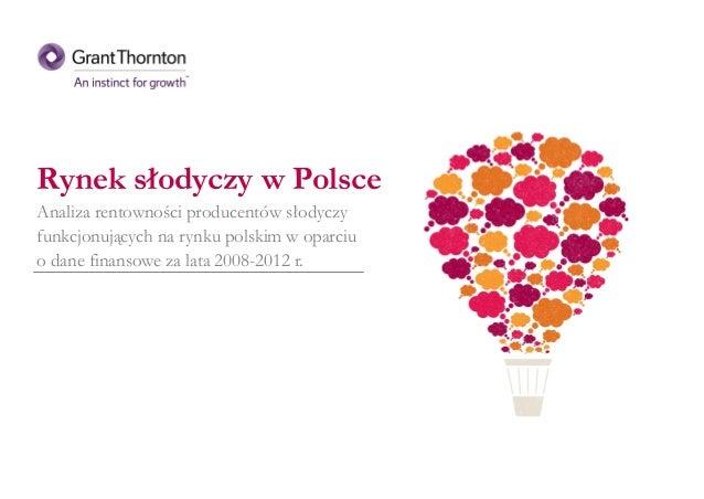 Rynek słodyczy w Polsce Analiza rentowności producentów słodyczy funkcjonujących na rynku polskim w oparciu o dane finanso...