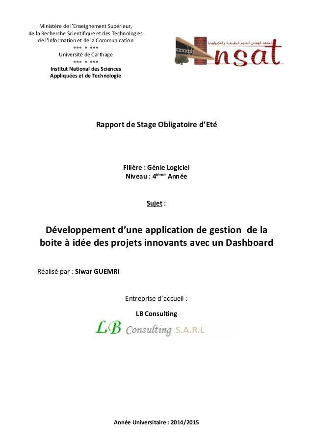 Ministère de l'Enseignement Supérieur,  de la Recherche Scientifique et des Technologies  de l'Information et de la Commun...