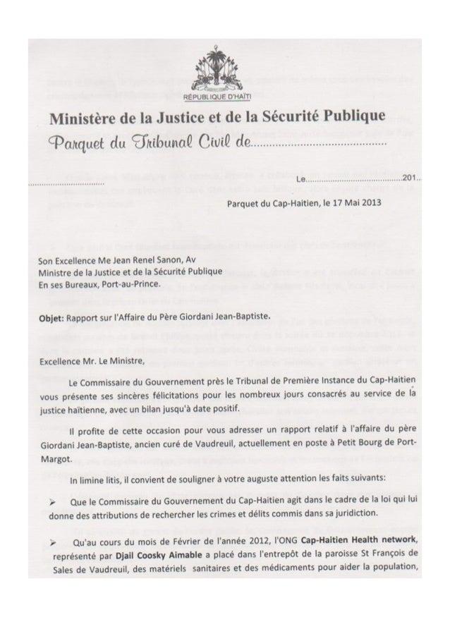 Cap-Haitien - Haiti: Un magistrat, accuse formellement un prête catholique de vol et de meurtre.
