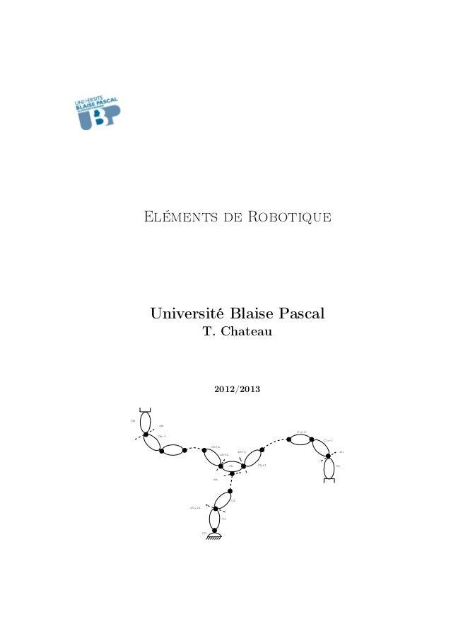 Eléments de Robotique  Université Blaise Pascal T. Chateau  2012/2013  Cm zm Cn-2 Cm-1 Cn-1 Ck+L zn  zk+1 zk+L Ck  zk  C2 ...