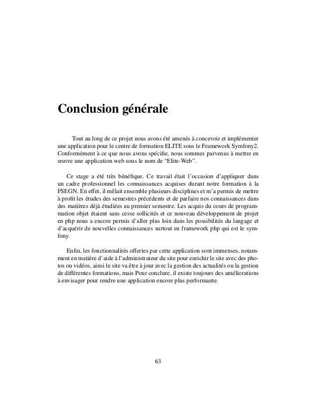 Rapport Projet De Fin D étude Développent D Une Application