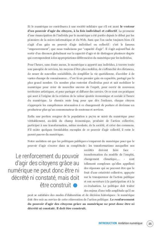 INTRODUCTION Ambition numérique 27 d'une société de contrôle, atomisée et en proie à la concurrence exacerbée de tous avec...