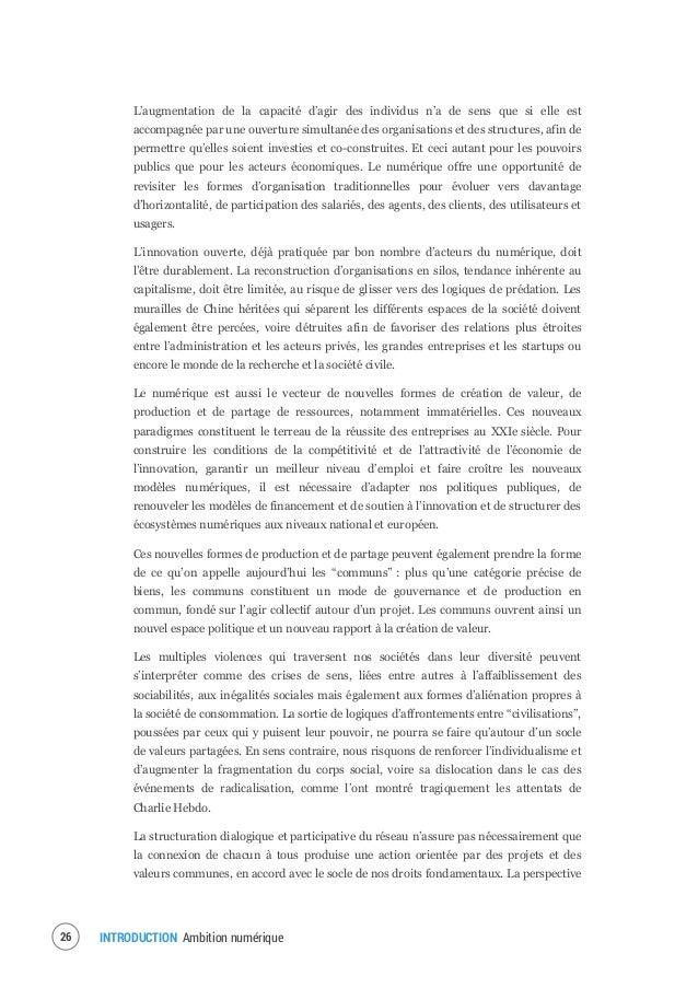 """INTRODUCTION Ambition numérique28 Le troisième volet, intitulé """"Mettre en avant la croissance française : vers une économi..."""