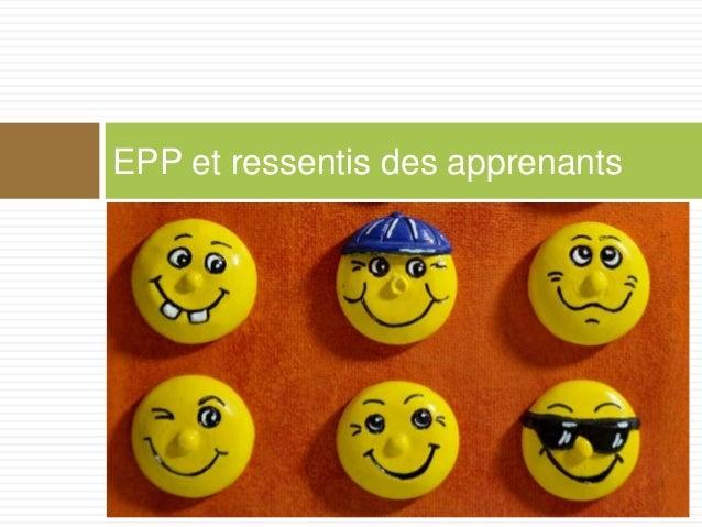 EPP et ressentis des apprenants