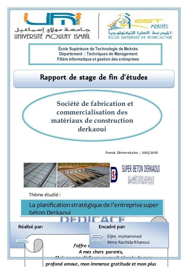 Rapport De Stage Societe Commerciale