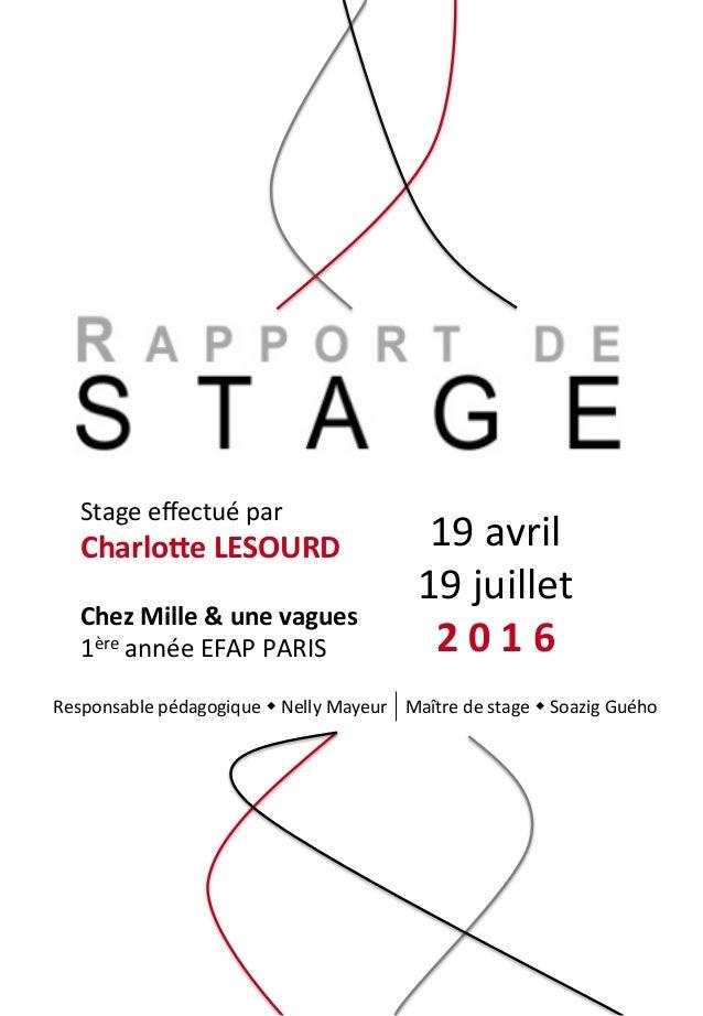 Mon Rapport De Stage Chez Mille Une Vagues