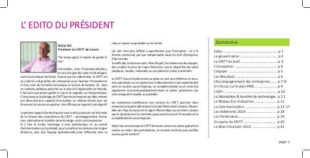 Les chiffres clés 2013 du CRITT de Savoie  Slide 3