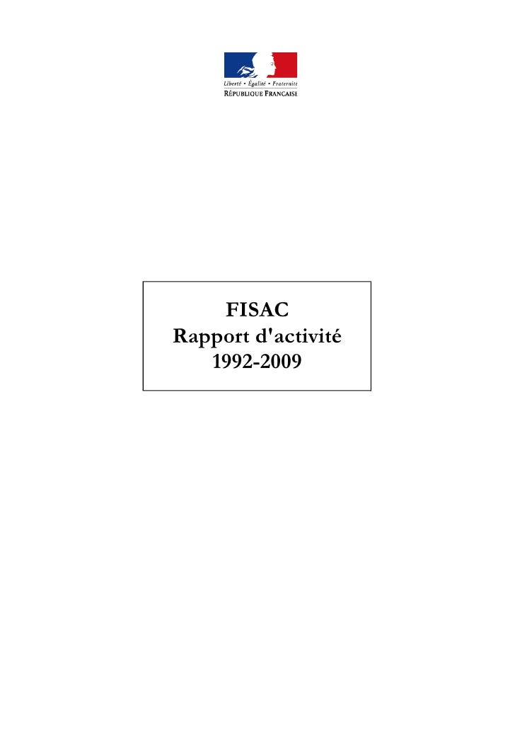 Rapport activite-fisac-2009