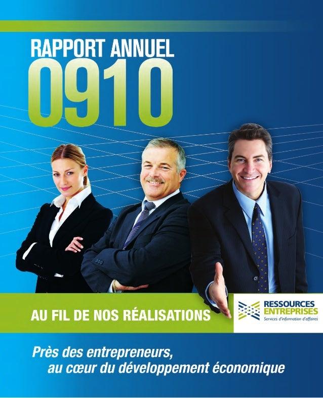www.ressourcesentreprises.org Service Info-Conseil PME 418 649-4636 1 800 322-4636 2014, rue Cyrille-Duquet bureau 290 Qué...