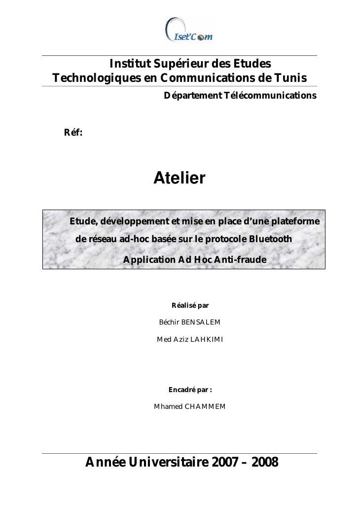 Institut Supérieur des Etudes Technologiques en Communications de Tunis                       Département Télécommunicatio...
