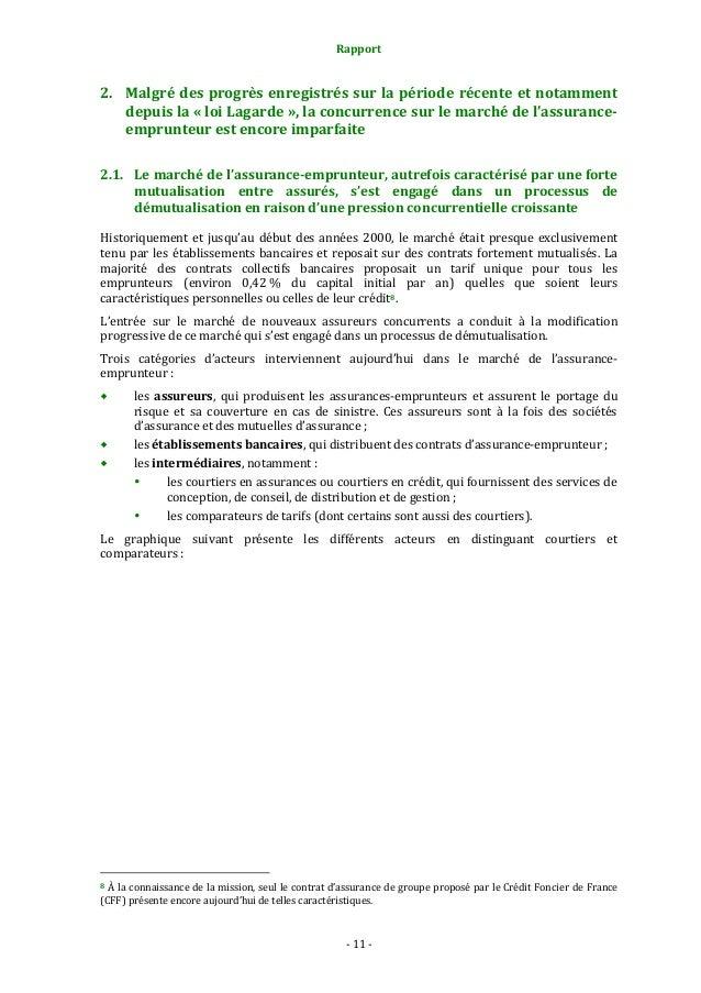Rapport  2. Malgré des progrès enregistrés sur la période récente et notamment depuis la « loi Lagarde », la concurrence s...