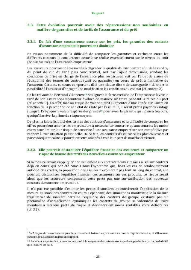 Rapport  3.3. Cette évolution pourrait avoir des répercussions non souhaitées en matière de garanties et de tarifs de l'as...