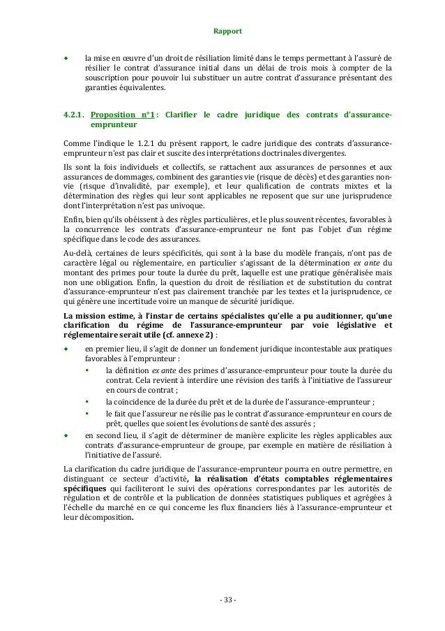 Rapport assurance emprunteur del'Inspection Générale des Finances