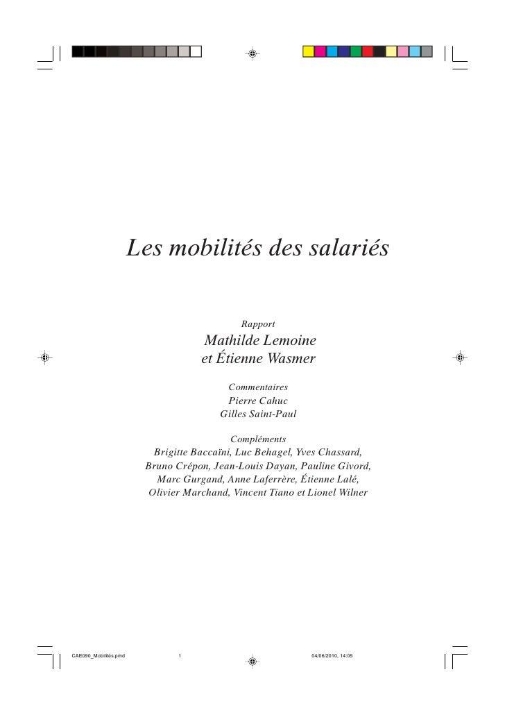 Les mobilités des salariés                                            Rapport                                   Mathilde L...
