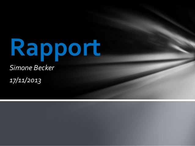Rapport Simone Becker 17/11/2013