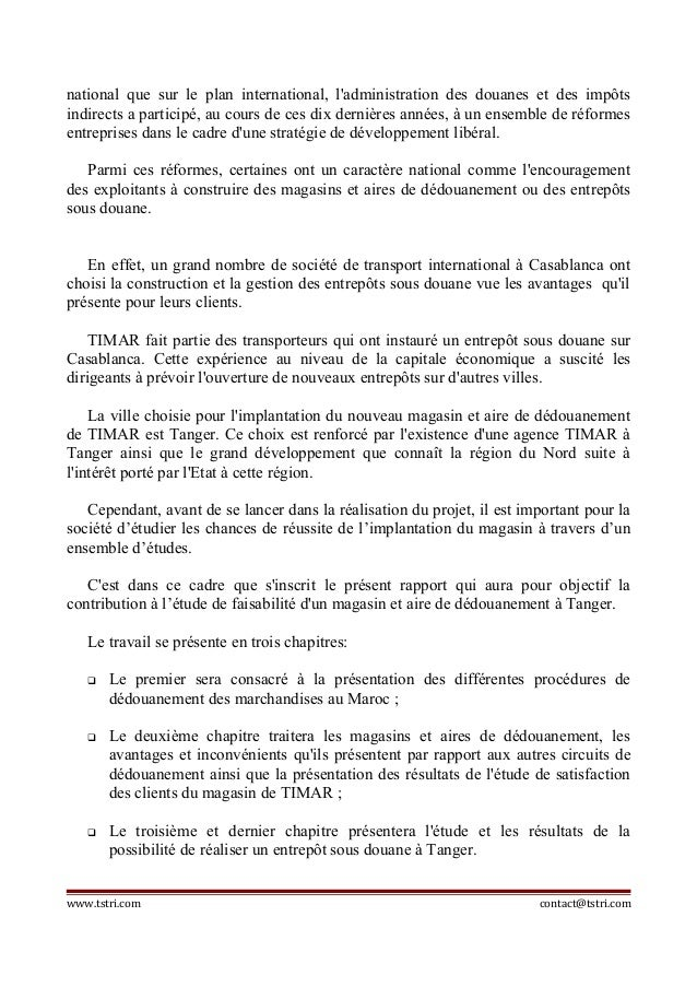 rapport stage dedouanement Dans ce rapport nous allons décliner les différentes étapes de notre stage qui a   transit elle s occupe des déclarations de douane en cas d importation au d .