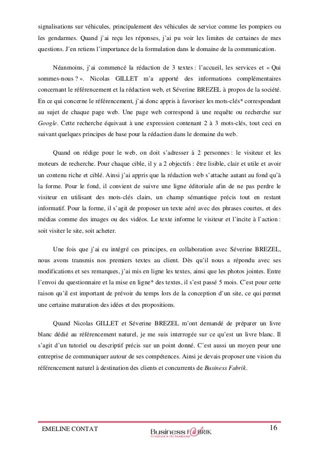 Rapport De Stage De Fin D études Chargée De Communication