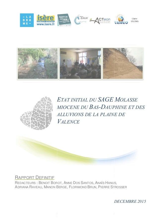 Rapport de l 39 tat initial de l 39 tat des lieux du sage for Architecte urbaniste de l etat