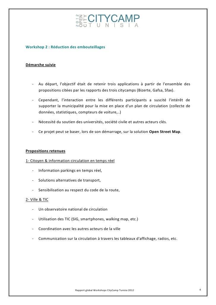 Workshop 2 : Réduction des embouteillagesDémarche suivie    -   Au départ, l'objectif était de retenir trois applications ...