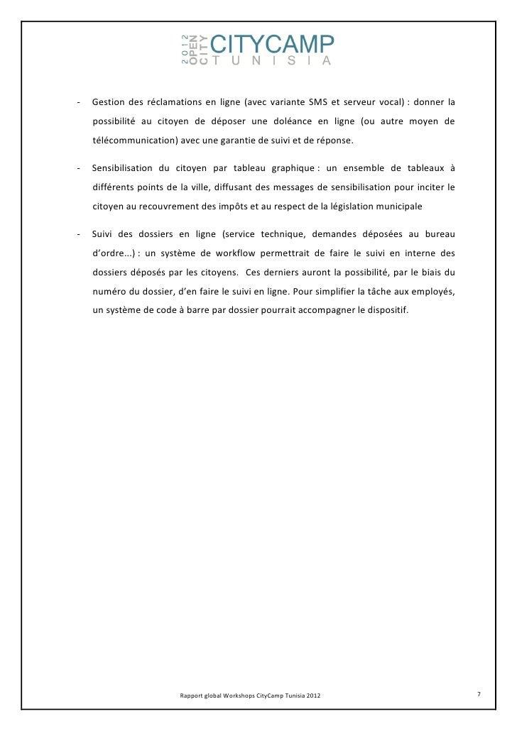 -   Gestion des réclamations en ligne (avec variante SMS et serveur vocal) : donner la    possibilité au citoyen de dépose...