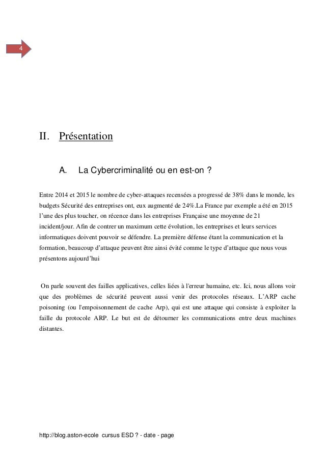 Protection Contre L Arp Poisoning Et Mitm