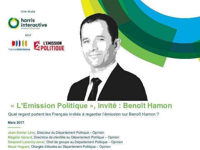 Jean-Daniel Lévy, Directeur du Département Politique – Opinion Magalie Gérard, Directrice de clientèle au Département Poli...