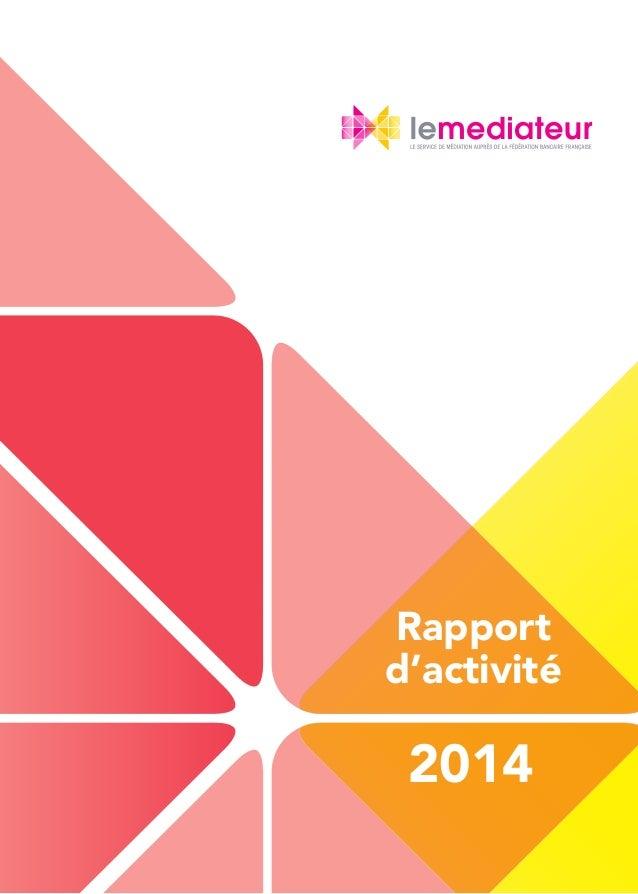 1 Rapport d'activité 2014