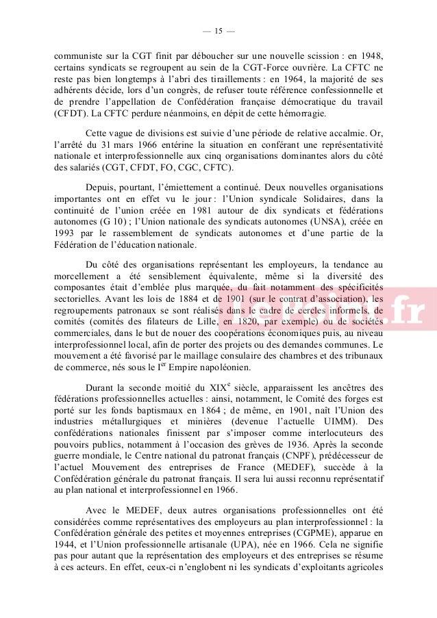 — 16 —  (Fédération nationale des syndicats d'exploitants agricoles – FNSEA, Coordination rurale, confédération paysanne n...