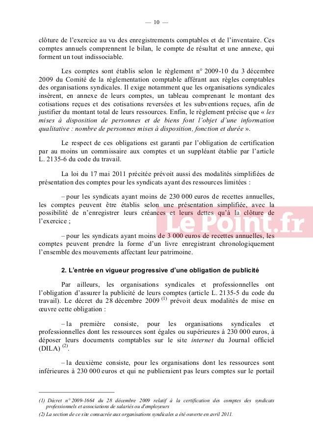 — 11 —  de la DILA ou sur leur propre site internet, à déposer leurs comptes auprès de la direction régionale des entrepri...