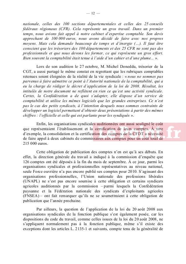 — 13 —  leur rédaction (1), pourraient faire partie. La question n'a pas été traitée par la loi du 5 juillet 2010 relative...
