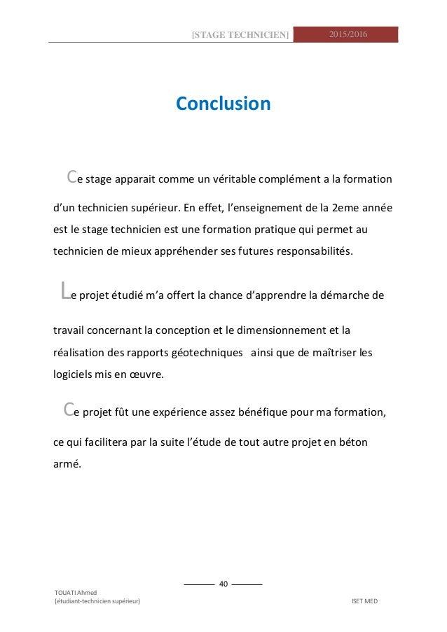 Rapport De Stage Génie Civil Géotechnique