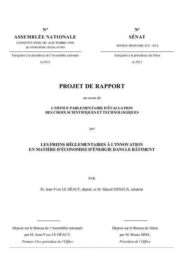 N° N° ASSEMBLÉE NATIONALE SÉNAT CONSTITUTION DU 4 OCTOBRE 1958 QUATORZIÈME LÉGISLATURE SESSION ORDINAIRE 2013 - 2014 Enreg...
