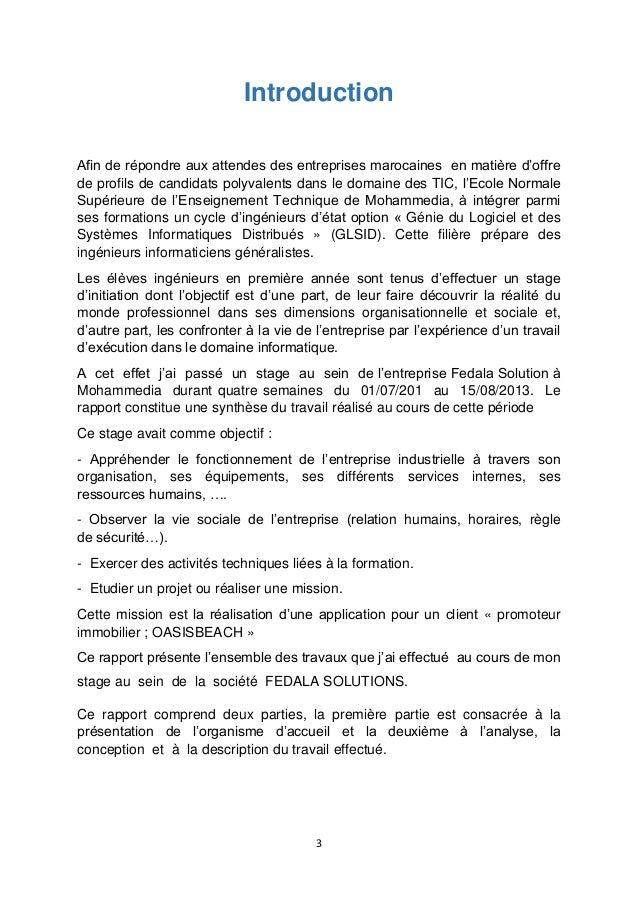 Rapport De Stage Promoteur Immobilier