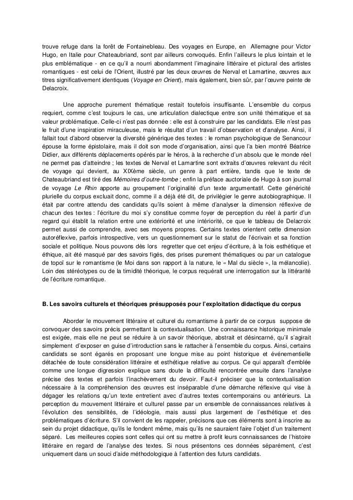 3. Des choix didactiques appropriés     Cette année, le sujet proposait un corpus dans la perspective de l'étude d'un mouv...