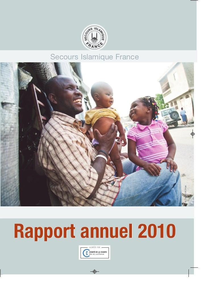 Secours Islamique France                               © J.Deya/SIF/HaitiRapport annuel 2010