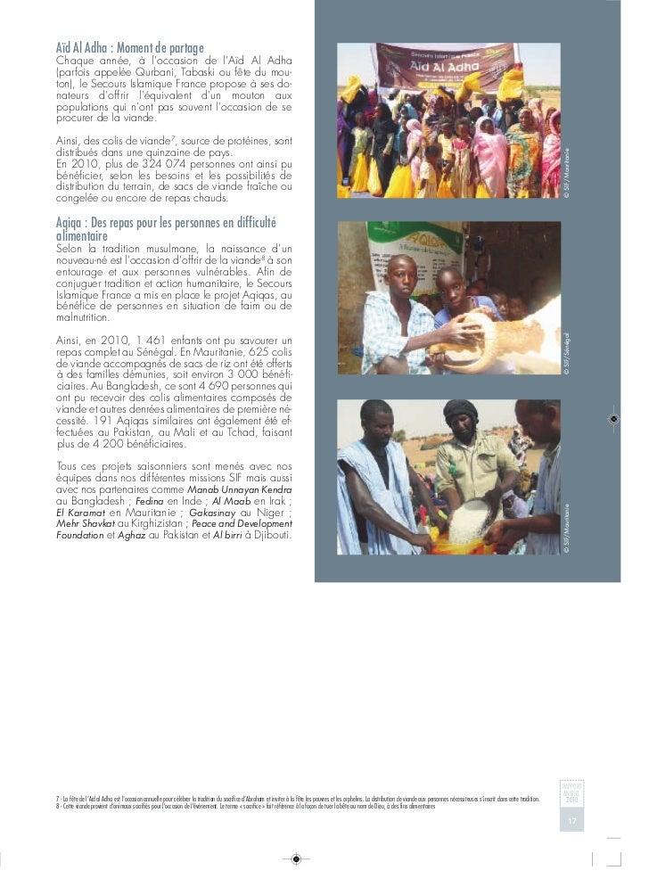Secours Islamique France Rapport Annuel 2010