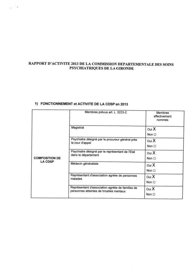 Rapport 2013 cdsp de la gironde