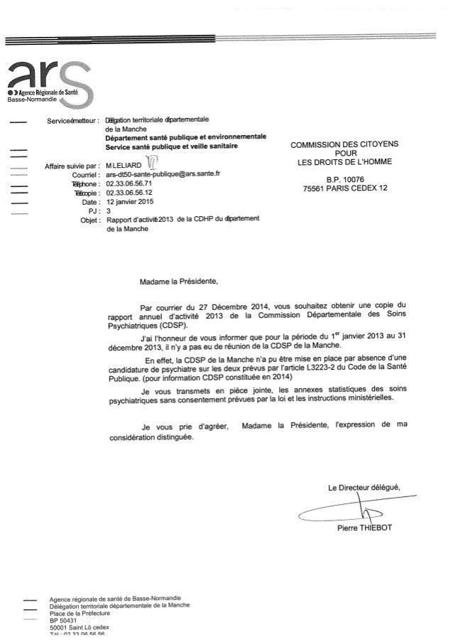 Rapport 2013 cdsp de la manche