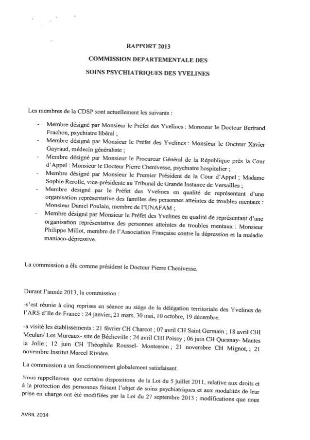 Rapport 2013 cdsp des yvelines 78