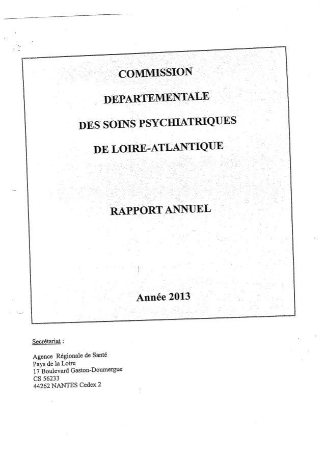 Rapport 2013 cdsp du loire atlantique