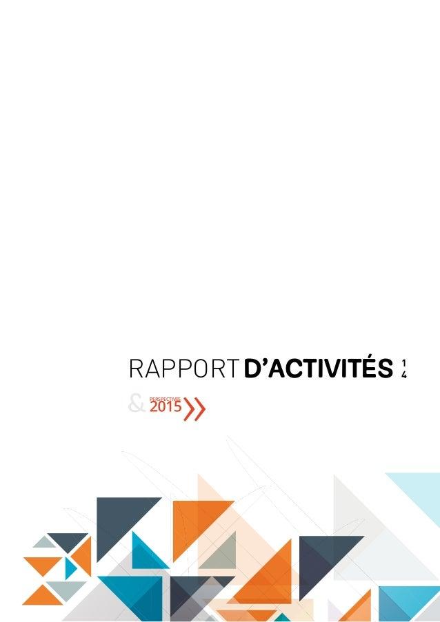 RAPPORTD'ACTIVITéS 1 4 PERSPECTIVES &