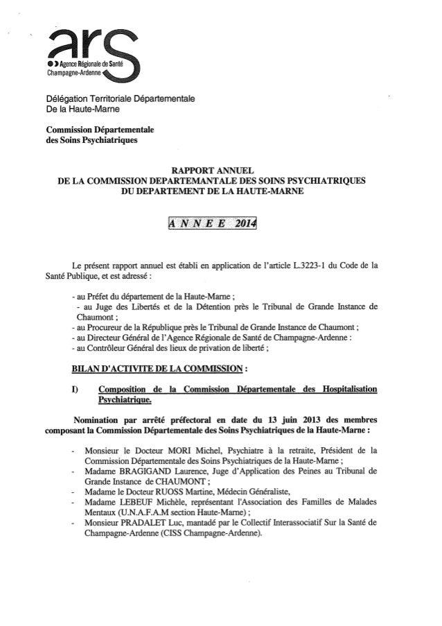 Rapport 2014 cdsp de la haute marne
