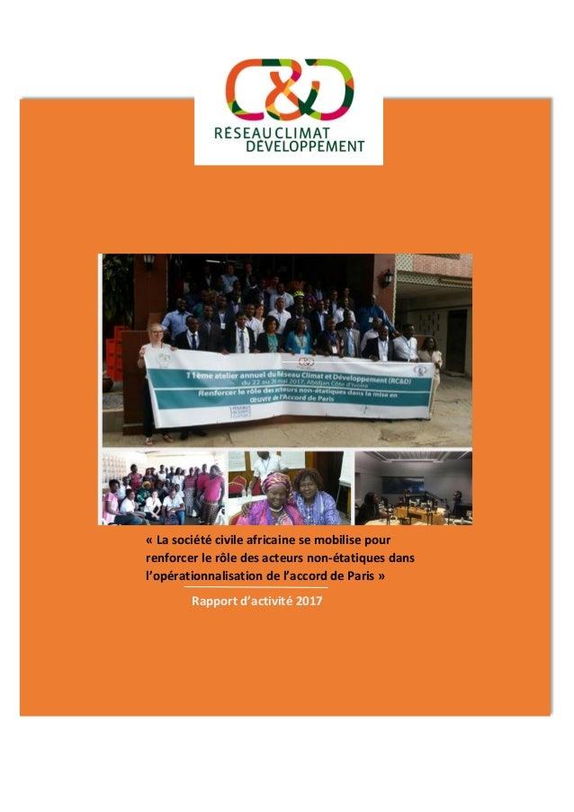 « La société civile africaine se mobilise pour renforcer le rôle des acteurs non-étatiques dans l'opérationnalisation de l...